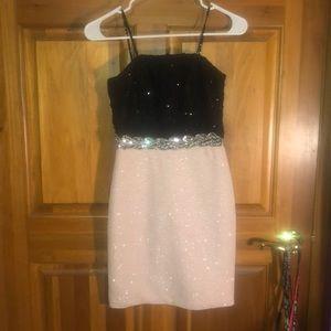 Sparkly Pink & Black Dress